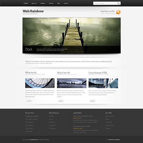 WebRainbow 3D - Web Template - 3D CUBER - CSS Templates ...