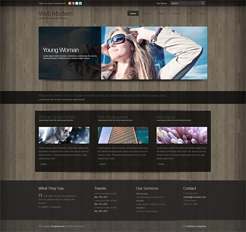 WebModern 3D - Website Template - 3D CUBER - CSS Templates ...