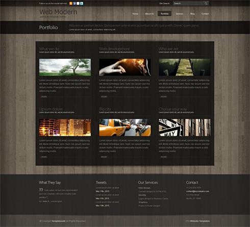 Webmodern 3d website template 3d cuber css templates preview image 3 maxwellsz