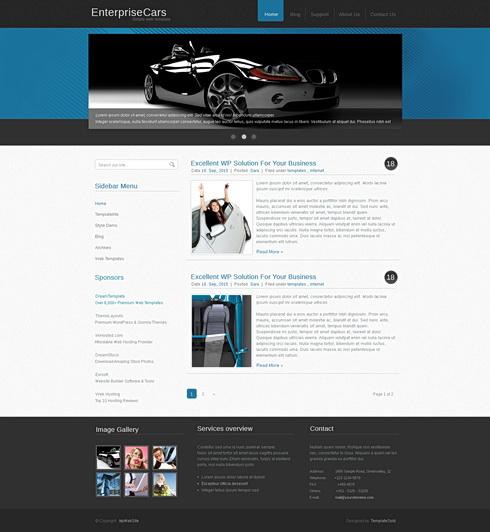 enterprisecars website template web cufon personal css templates dreamtemplate. Black Bedroom Furniture Sets. Home Design Ideas