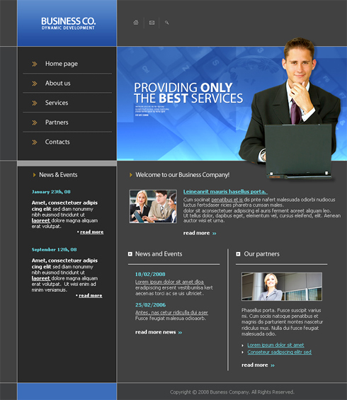 Dynamic Business Web Template - 3272 - Computers & Technology ...