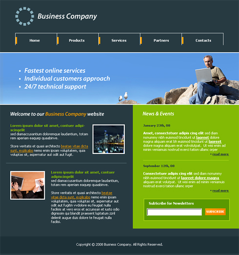 Web Technology Website Template - 3320 - Computers & Technology ...
