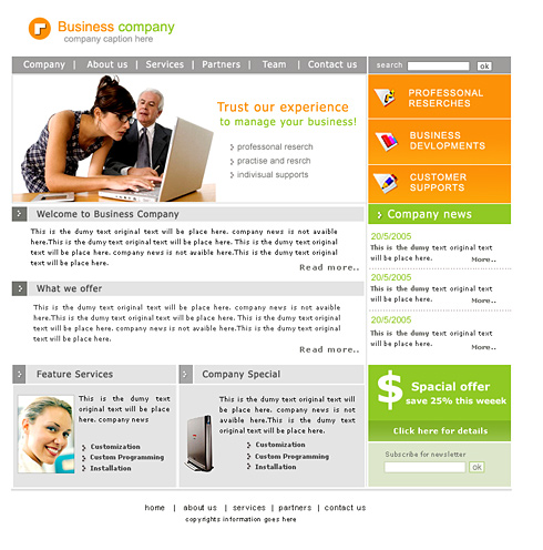 Professional Website Template Computers Technology - Professional website templates