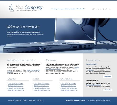 Glass Beam CSS Template - 4279 - Computers & Technology - Website ...