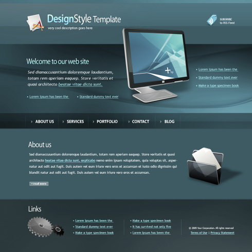 Monitor HTML Template - 4449 - Computers & Technology - Website ...