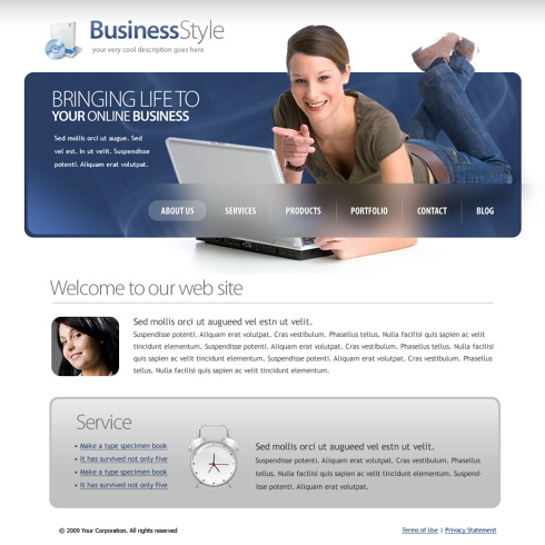 Business style web template 5628 computers technology business style web template 5628 templates website templates computers cheaphphosting Images