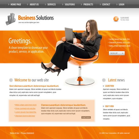 Information Technology Website Template Computers - Information website template