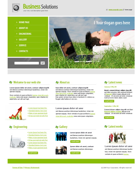 Laptop StyleWebsite Template - 6036 - Computers & Technology ...
