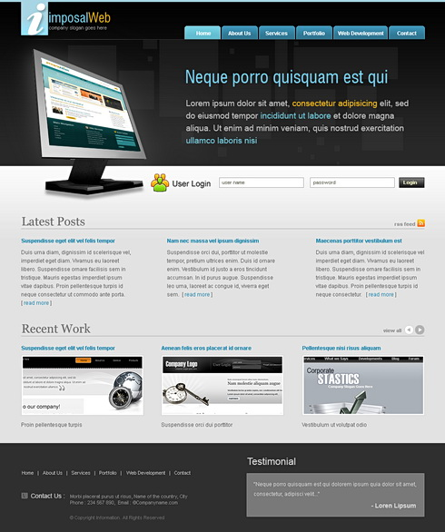 Desktop HTML Template - 6483 - Computers & Technology - Website ...
