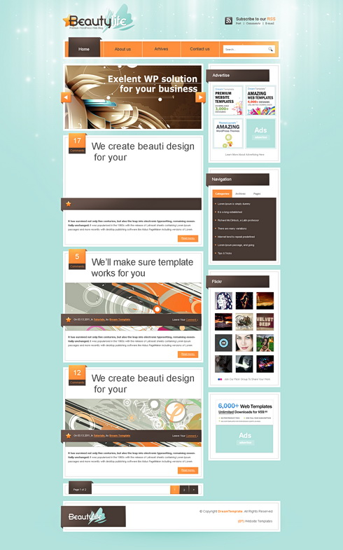 Liferay Webpage Template Web Blog Personal Css Templates