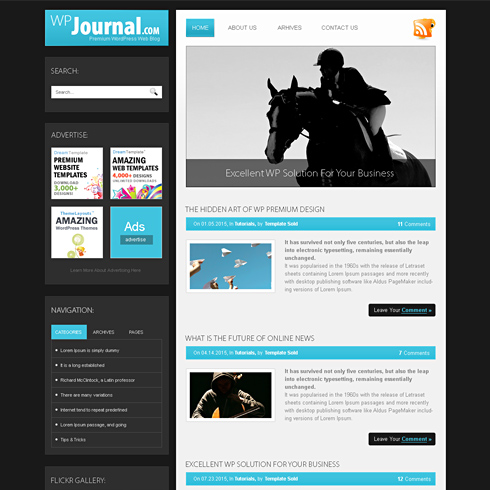 Journal Html Template Web Blog Personal Css Templates