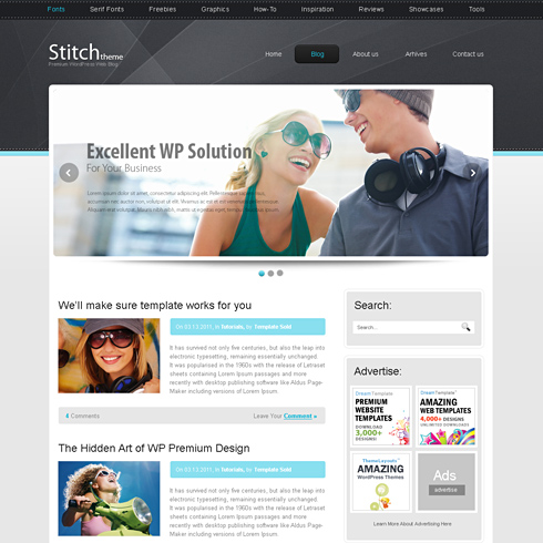 Stitch Html Template Web Blog Personal Css Templates