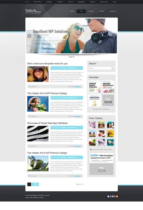 Stitch HTML Template Web Blog Personal CSS Templates - Online art gallery website template