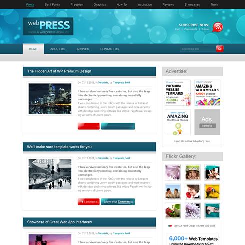 WebPress - CSS Template - Web Blog - Personal - CSS Templates ...
