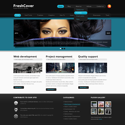 FreshCover - XHTML Template - Web Blog - Personal - CSS Templates ...