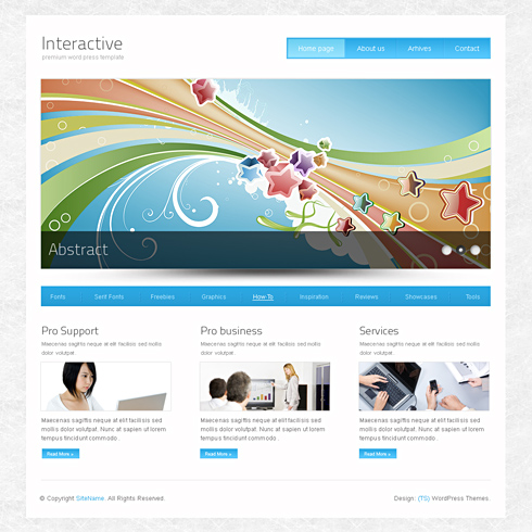 Interactive - Webpage Template - Web Blog - Personal - CSS Templates ...