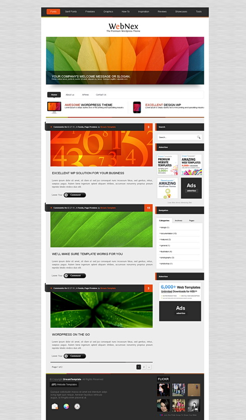 Alumnipress Html Template Web Blog Corporate Css Templates
