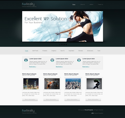 Webagencywp - XHTML Template - Web Blog - Corporate - CSS Templates ...