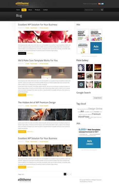 blackboard webpage template web blog corporate css templates