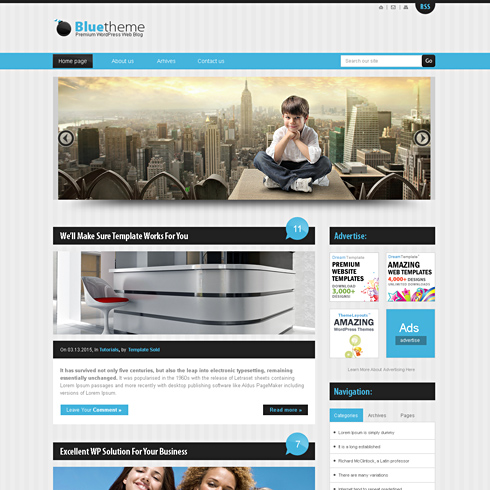 Bluestripes Html Template Web Blog Corporate Css Templates
