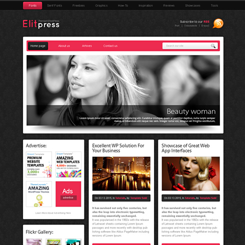 Pinkpanther html template web blog corporate css templates pinkpanther html template wajeb Images