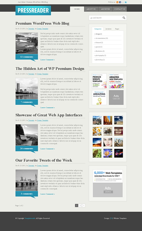 Css Blog Template. w3 css templates. simple personal blog css ...