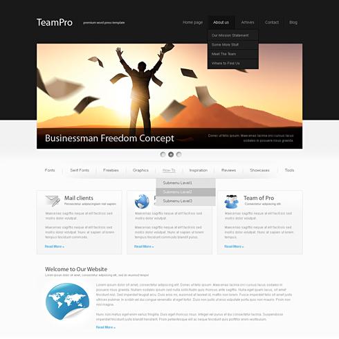 BlackCorp - HTML Template - Web Blog - Corporate - CSS Templates ...