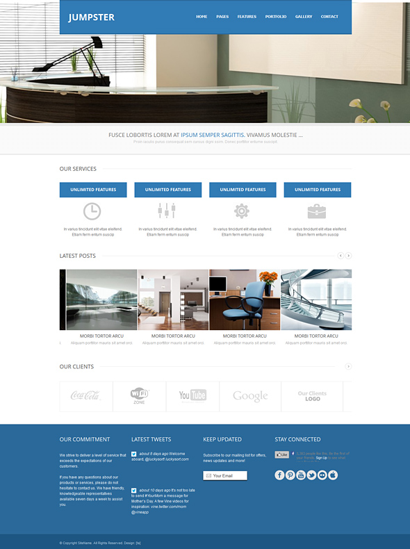 Jumpster responsive website template responsive website jumpster responsive website template flashek Image collections