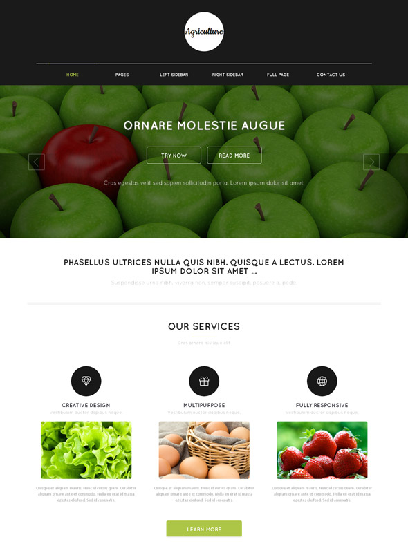 Agriculture Web Template - Agriculture & Farming - Website Templates ...