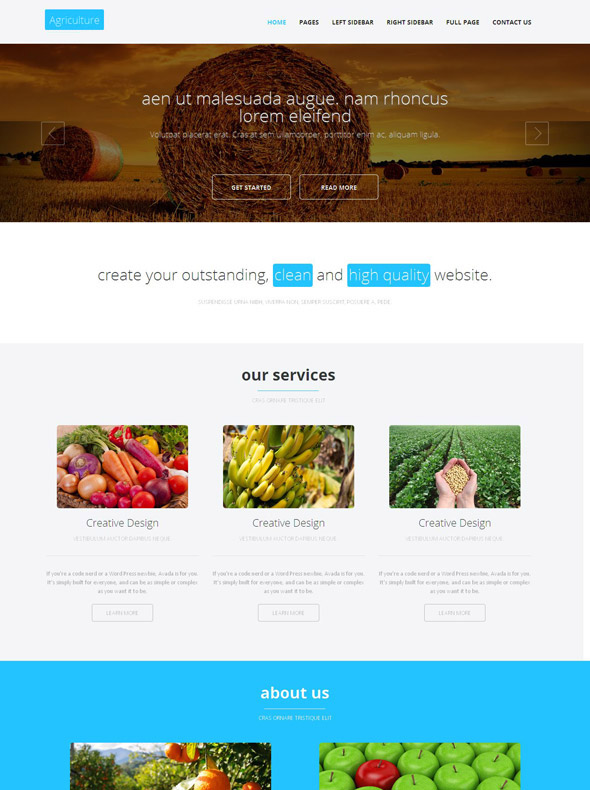 Horticulture Website Template - Agriculture & Farming - Website ...