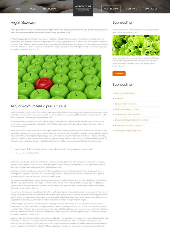 food web template agriculture farming website templates dreamtemplate. Black Bedroom Furniture Sets. Home Design Ideas