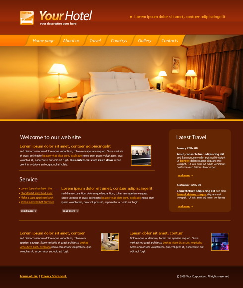 5591 travel hotel website templates dreamtemplate for Hotel web design