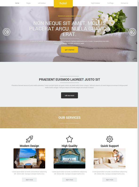 Hotel Beach Web Template - Travel & Hotel - Website Templates ...