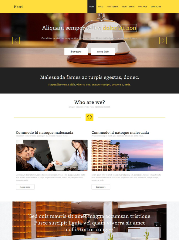 Hotel reservation html template travel hotel website for Site reserver hotel
