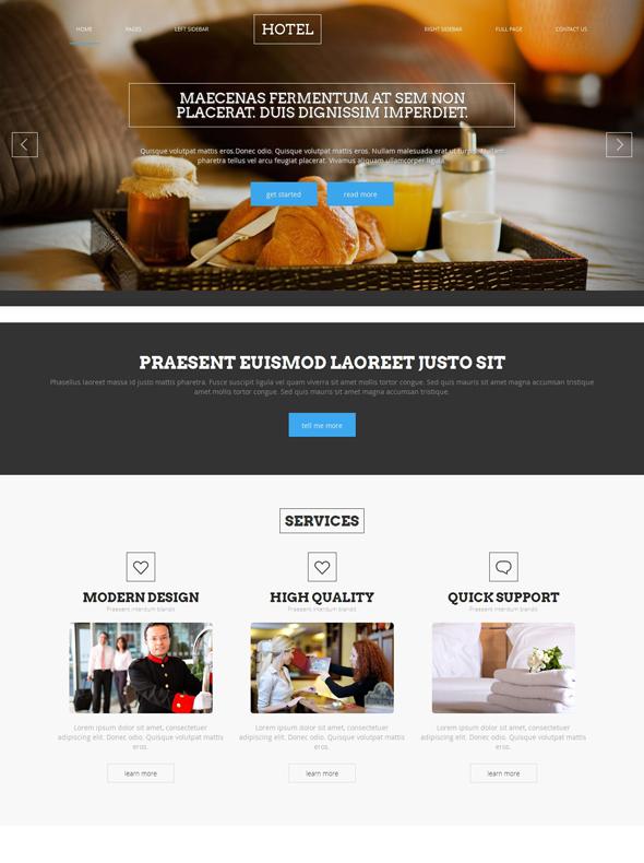 Hotel Reservation Website Template - Travel & Hotel - Website ...