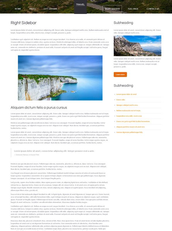 Tourism HTML Template - Travel & Hotel - Website Templates