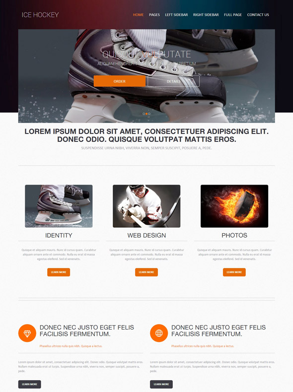 ice skating website template ice hockey sports dreamtemplate