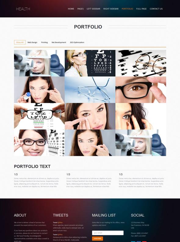 Eye Care Web Template - Health - Website Templates - DreamTemplate