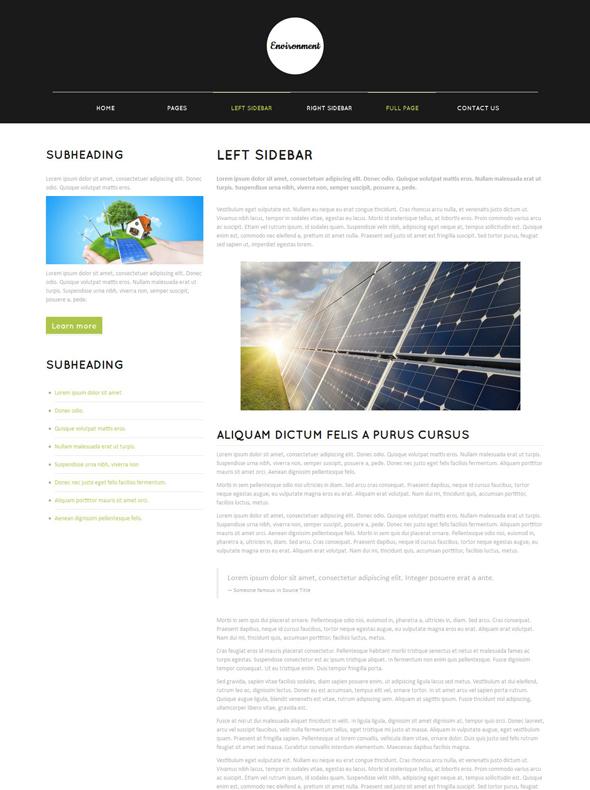 environmental website template - environmental