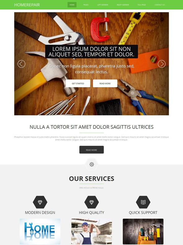 Home Renovation Website Template Home Renovation Website - Home remodeling website templates