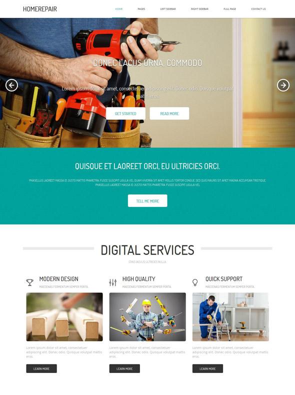 Home Renovation Website Template - Home Renovation - Website