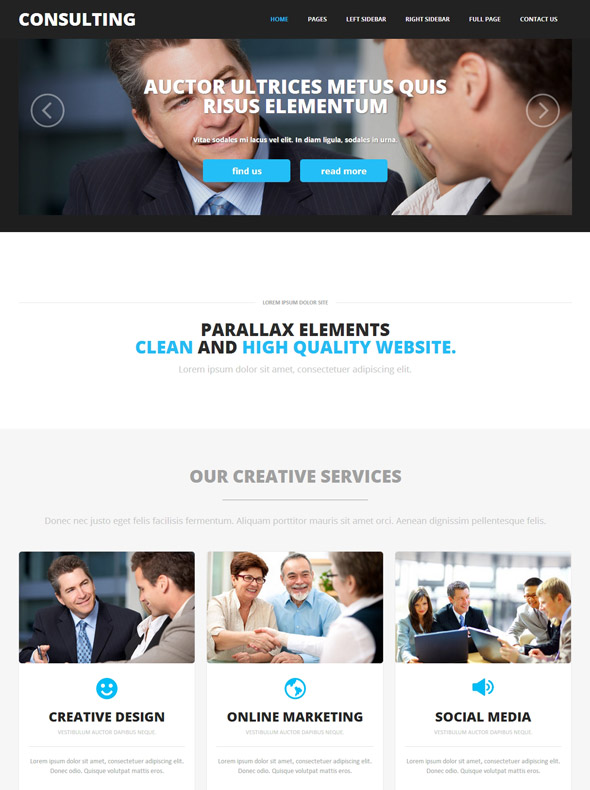 Consulting Website Template Consulting Agency Website