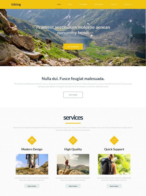 Adventures Hiking Website Template - Hiking