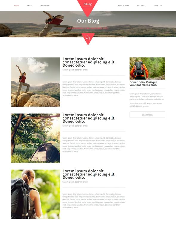 Trekking HTML Template - Hiking - Website Templates