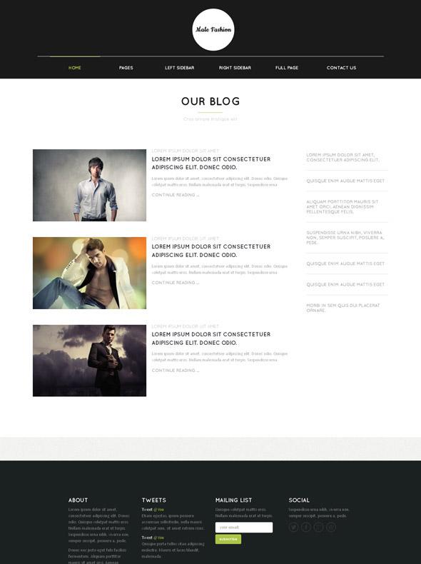 Fashion Style Web Template Male Fashion Website Templates Dreamtemplate
