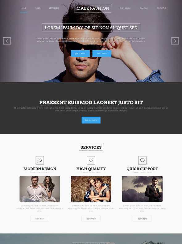 Men's Clothing Site Template