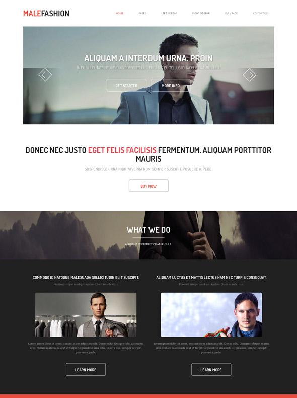 Male Fashion Web Template - Male Fashion - Website Templates ...