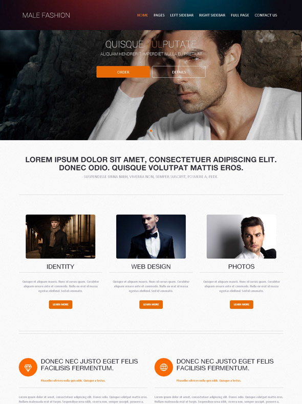 Men\'s Clothing Site Template - Male Fashion - Website Templates ...