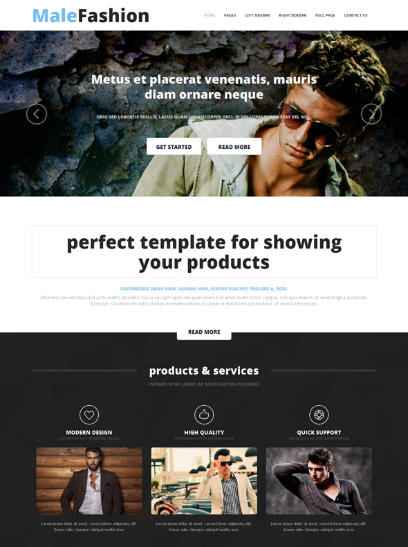 Men's Clothing Site Template - Male Fashion - Website Templates ...