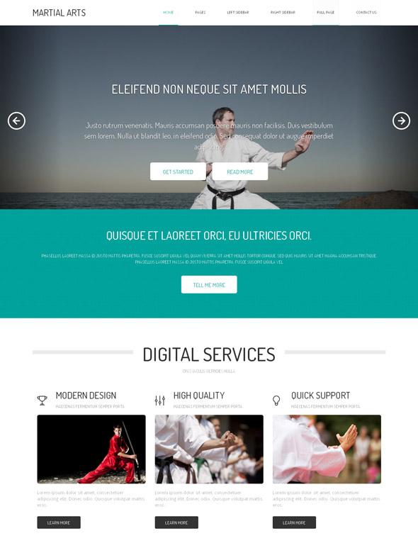 Judo HTML Template Templates Website Martial Arts